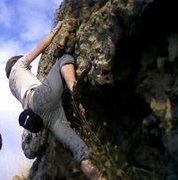 Rock Climbing Photo: I Believe this boulder was in someones yard. I can...