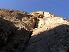 Rock Climbing Photo: at the base looking up the first pitch