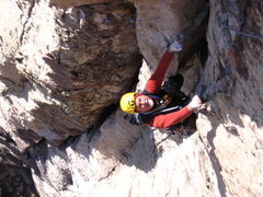 Rock Climbing Photo: Bill following 2nd pitch