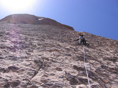 Rock Climbing Photo: Loads of features, but still a steep 5 pitch