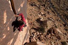 Rock Climbing Photo: Upper crack above the chimney section