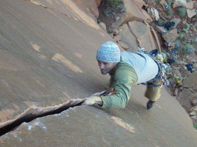Rock Climbing Photo: Crack opening up