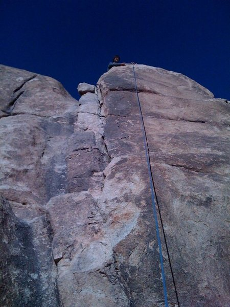 Rock Climbing Photo: Brimstone stairway to the left, Deadheads up the f...