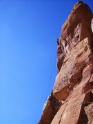 """Rock Climbing Photo: Dean rapping off """"A Marriage Reality"""""""