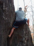 Rock Climbing Photo: This is a photo of me doing my first boulder probl...