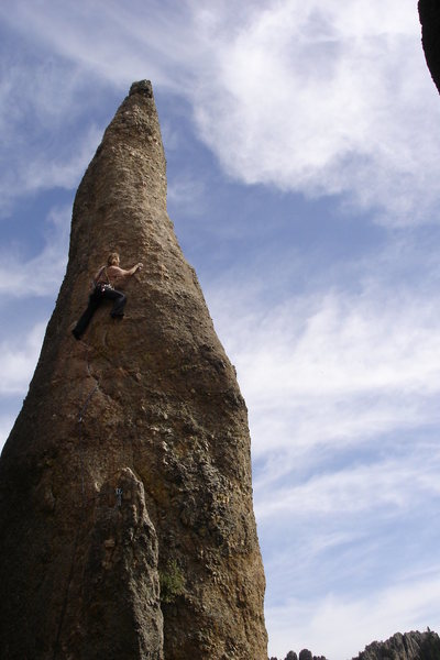 Rock Climbing Photo: Robin Bickford just cruised up the thing. I kept t...