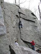 Rock Climbing Photo: Beginner' crack (5.3)