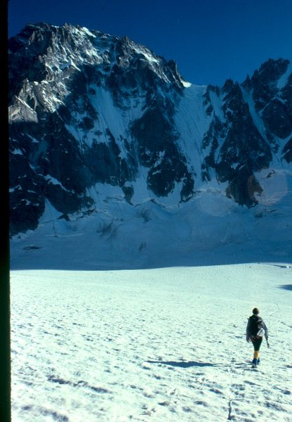 Rock Climbing Photo: Tommy D under the mighty Les droites NF Sport clim...