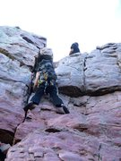 Rock Climbing Photo: Following a route and bringing gear to set some to...