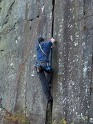 Rock Climbing Photo: Trying to get off the ground on Yosemite Crack. Ph...