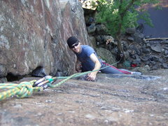 Rock Climbing Photo: Inside Corner being belayed by the fiance (Lynn). ...