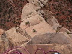 Rock Climbing Photo: me on ottos route!!