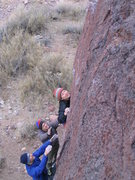 Rock Climbing Photo: Who says you can't climb in the rain, Linda W. try...