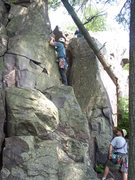 Rock Climbing Photo: Side view of route
