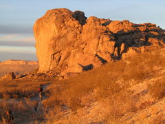 Rock Climbing Photo: Hiking back from West Mountain at the end of the d...
