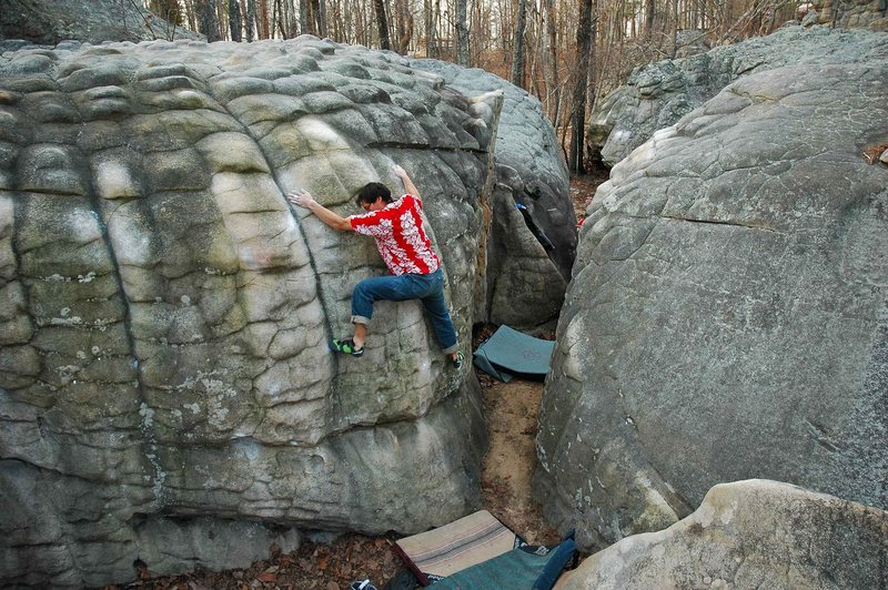 Rock Climbing Photo: Working my way up Millipede