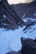 Rock Climbing Photo: Entrance snow slope