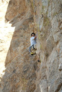 Rock Climbing Photo: Angel following Mike's lead up HT...