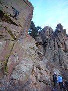 Rock Climbing Photo: Still slabby - Unknown 10a
