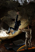 Rock Climbing Photo: A cold day of bouldering at Zahnd.