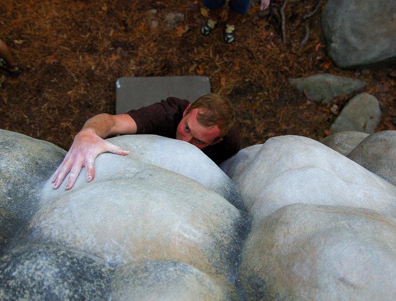 Rock Climbing Photo: Trey Tucker on Bum Boy Horsepens 40,AL.