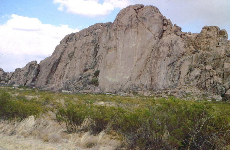 Rock Climbing Photo: North Mountain, Hueco Tanks State Park, photo: Bob...