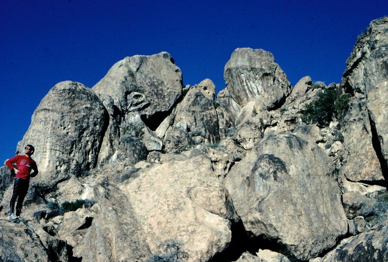 Rock Climbing Photo: West Mountain, Hueco Tanks, photo: Bob Horan