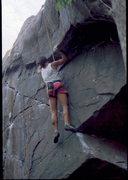 Rock Climbing Photo: BH sending a new TR at Taylor Falls, circa 1987.