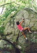 Rock Climbing Photo: BH in the awesome Fountainbleu, photo: Bob Horan C...