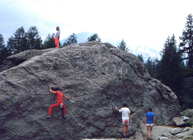 Bouldering in Chamonix, photo: Bob Horan Collection