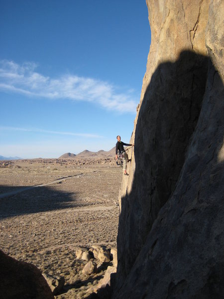 "A shockingly passed over classic in the Alabama Hills (even Marty Lewis gave it only ""one stars""....huh?), 'Southern Man' takes the eastern face of Alabama Dome up thin edges on a steep blond face."