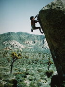 Rock Climbing Photo: Rick Dierkson bouldering the White Rastafarian, ph...