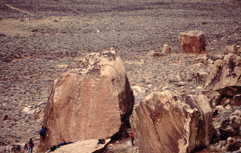 Bouldering at Red Rock, Nevada, photo: Bob Horan Collection