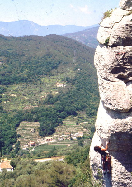 Rock Climbing Photo: Climbing above the vineyards in Finale, photo: Bob...
