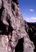 Rock Climbing Photo: Jorge on Hammerdown.  Photo: Bob Horan Collection.