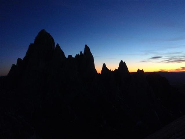 fitz roy group at first light from standart