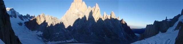 the torre's shadows on fitz roy