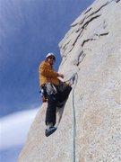 Rock Climbing Photo: Alan leads out on De la 's'