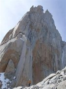 Rock Climbing Photo: Alan below St Exupery, on our way down from De La ...