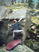 Rock Climbing Photo: Quinn on Cross of Iron