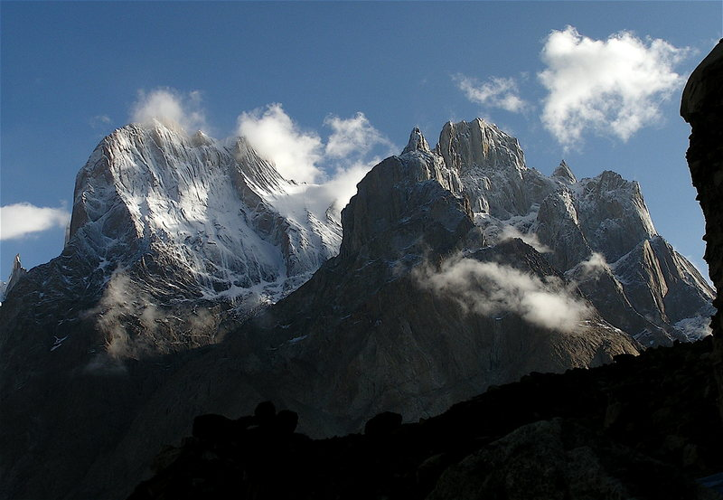 Rock Climbing Photo: Morning view of the Great Trango and Biale