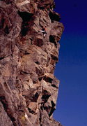Rock Climbing Photo: 1st ascent of Standback, photo: Bob Horan Collecti...