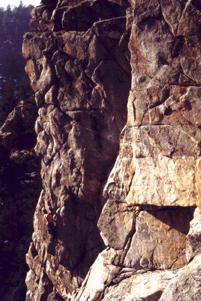 Rock Climbing Photo: Sending the Dreamer's Dream, photo: Bob Horan.