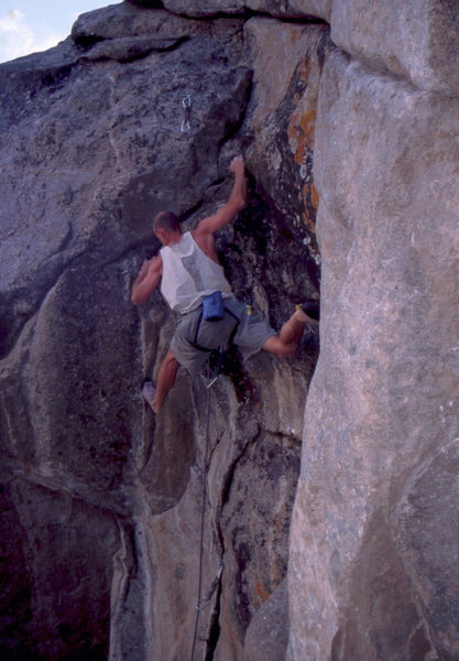 In the crux of Equator, photo: Bob Horan Collection.