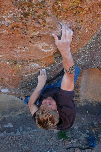 Rock Climbing Photo: The late, great Nate Bowe on 'Tim's Prow' v4, Coun...
