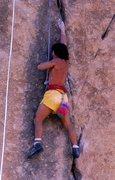Rock Climbing Photo: Tony Yaniro on Baby Apes, 1981. Photo by Bob Gaine...