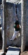 Rock Climbing Photo: Jon Henkel solving the mystery groove.