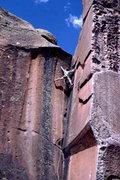 Rock Climbing Photo: Steve Mestdagh climbing at Penitente, photo: Bob H...