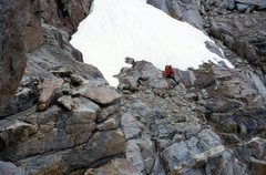Rock Climbing Photo: A view on the left of the irregular and sloping le...
