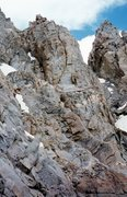 Rock Climbing Photo: A view of the Southwest Chute on the right leading...